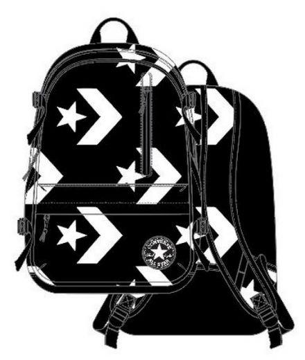 eae837e78746 Converse unisex STRAIGHT EDGE BACKPACK BLACK/WHITE hátizsák 10007783 ...