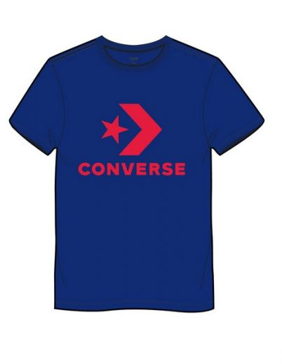 Converse férfi CONVERSE STAR CHEVRON TEE BLUE póló e70887fe78