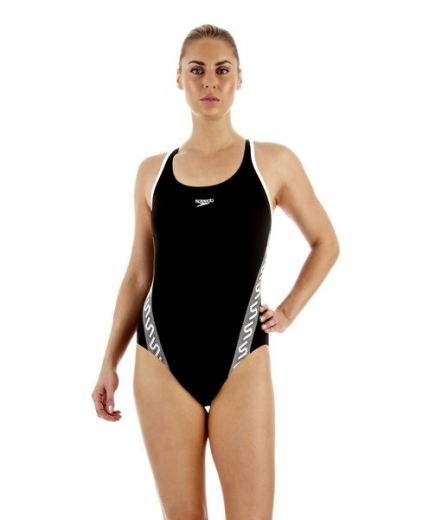 Speedo nõi MONOGRAM MSBK AF BLACK/WHITE úszódressz
