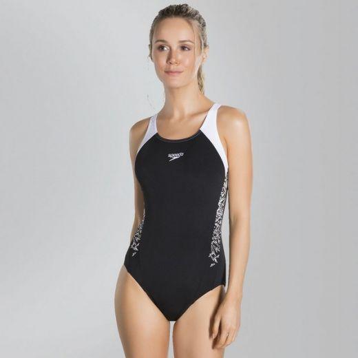 Speedo női BOOM SPL MSBK AF BLACK WHITE úszódressz 8-108213503 ... 8babc7d01d