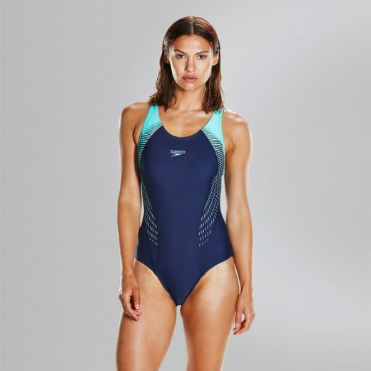 Speedo nõi FIT LNBK AF NAVY/GREEN úszódressz