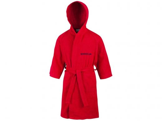 Speedo gyerek BATHROBE MICROTERRY RED köntös