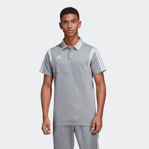 Adidas férfi TIRO19 CO POLO      GREY/WHITE póló